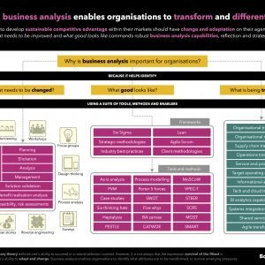 Business analysis is the underlying capability that enables firms to transform