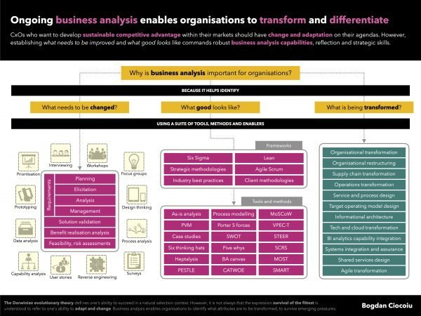 Business analysis is the underlying capability that enables organisations to transform - Bogdan Ciocoiu